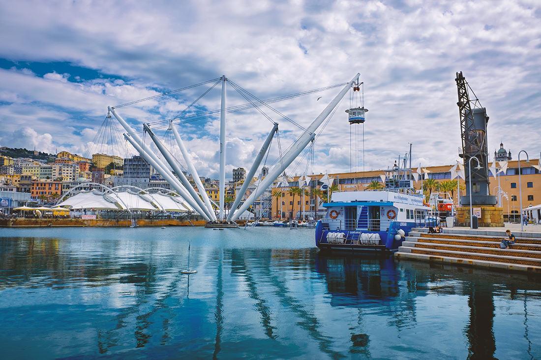 Il Bigo nel Porto Antico di Genova - Tiziano Caviglia