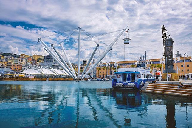 Il Bigo nel Porto Antico di Genova